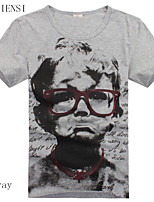 2015 new summer glasses boy t-shirt men's creative