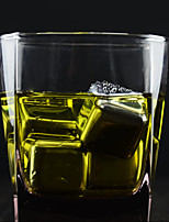 ALL BLUE (8 PCS) Creative  Imported Whiskey Quick-Frozen 304 Stainless Steel Ice Cube For Bar