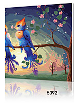 DIY Digital Oil Painting With Solid Wooden Frame Family Fun Painting All By Myself     Love Birds 5092