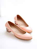 Women's Shoes Faux Leather Chunky Heel Heels Pumps/Heels Office & Career/Casual Blue/Pink/Beige