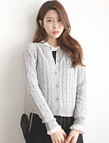 Women's Vintage Casual Long Sleeve Solid Cardigan Sweaters