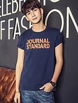 Men's Fashion Casual Printed Cotton Short-sleeved T-shirt
