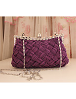 Women 's Silk Hobo Clutches/Evening Bags - White/Beige/Pink/Purple/Red/Gray/Black