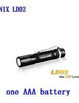 Torce LED - LED - Campeggio/Escursionismo/Speleologia/Uso quotidiano/Lavoro - Impermeabili/Clip/Emergenza 3 Modo 100 Lumens AAACree XP-E