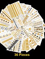 39 - Séries bijoux - Doré/Noir/Argenté - Motif - 26.5*15.5*6 cm - Tatouages Autocollants Homme/Femme/Adulte/Adolescent