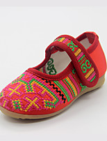 Girls' Shoes Outdoor/Party & Evening/Dress/Casual Mary Jane/Comfort/Round Toe Silk Flats Red