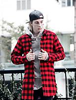 Men's Long Sleeve Shirt , Others Casual Plaids & Checks