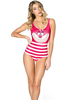 Pink Pattern Swimwear Woman Cosplay Costumes