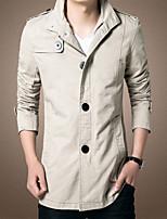Men's Casual Pure Long Sleeve Long Jacket (Cotton) new Autumn men's jacket men jacket fashion wild tide Men's Shirts