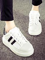 Scarpe Donna - Sneakers alla moda - Tempo libero / Casual - Comoda / Punta arrotondata - Piatto - Di corda - Nero / Bianco