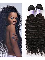 3Pcs/Lot Deep Wave Brazilian Unprocessed Human Virgin Hair Natural Color Weft Hair Weaves