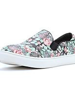 Zapatos de mujer - Tacón Plano - Punta Redonda - Oxfords - Casual - Semicuero - Negro