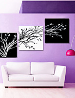 VISUAL STAR®Black and White Abstract Tree Canvas Wall Art for Living Room Decor Ready to Hang