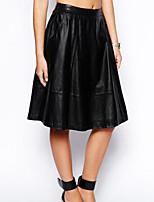 Women's PU Casual Women's Bust Skirt