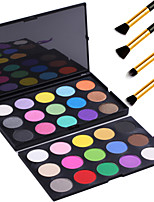 Double-deck 30 Colors Matte Shimmer Eyeshadow Palette Makeup Kit Set+4PCS Pencil Makeup Brush
