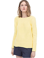 Women's 2 Color Sexy Hollow Out Back Deep V Neck Long Sleeve Sweaters