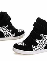 Scarpe Donna - Sneakers alla moda - Tempo libero / Casual - Punta arrotondata - Piatto - Finta pelle - Nero / Rosso / Beige