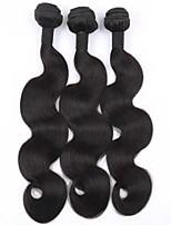 3Pcs Lot Top Quality Peruvian Virgin Hair Body Wave Natural Black Color Human Hair Weaves/Weaving