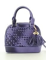 Women's Casual Knitting Shell PU Leather Handbags