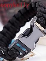 Toonykelly® 18CM Fashionable Black Rope Chian Sport Belt Bracelet(1PC)