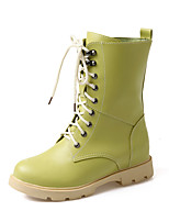 Women's Shoes Wedge Heel Combat Boots/Round Toe Boots Office & Career/Dress/Casual Black/Green/Red/White