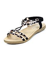 Women's Shoes  Flat Heel Comfort Sandals Casual Black/Beige