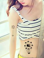 5Pcs Waterproof geometry Pattern Temporary Body Art Tattoo Sticker
