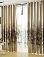 (One Panel)Country Single-sided Printing Trees Thick  Blackout  Curtain