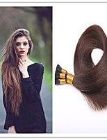 3Pcs/Lot 1G/S 100G/PC Brazilian Virgin Straight Keratin Fusion Hair Extension Stick Hair/I Tip Pre-bonded Hair In Stock