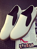 Women's Shoes Low Heel Round Toe Loafers Casual White/Beige