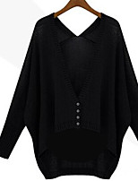 Women's Sexy Casual Cute Micro Elastic Medium Long Sleeve Cardigan (Knitwear)