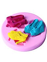 chaussures à talons hauts bricolage fondant en forme de décoration de gâteau moule