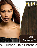 20 inch Keratin Stick Tip/ I Tip 0.5g/s Malaysian Human Hair Extensions 13 Colors for Women Beauty