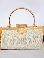 Women PU / Metal Minaudiere Tote / Clutch / Evening Bag / Wristlet-Gold