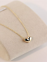 Gold Love Heart Short Collarbone Necklace(Gold/Silver)(1Pc)