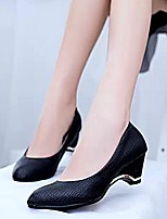 Amir 2015 Hot Sale Women's Shoes Chunky Heel Comfort/Round Toe Pumps Office & Career/Casual Black/White