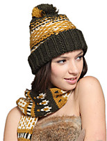 Kenmont Autumn Winter Women  Wool Acrylic Handmade Jacquard Outdoor Warm Knitted Hat 1315