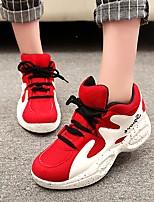 Scarpe Donna - Sneakers alla moda - Tempo libero / Casual - Comoda - Piatto - Finta pelle - Nero / Rosso / Bianco