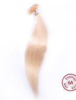 EVET Hair Products Brazilian Virgin Hair Silky Straight Hair U Tip Extensions 100g/lot Human Hair #613