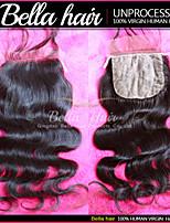 cierre de la base de seda de la onda del cuerpo brasileño remy virginal de la armadura del pelo humano 8