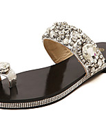 Women's Shoes  Flat Heel Open Toe Sandals Casual Black/Silver