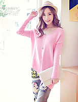 Pink Doll®Women's Casual Asymmetrical Long Sleeve  Loose Pullover