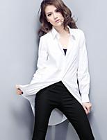 Camicia Da donna Colletto Manica lunga Misto cotone