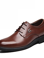 Men's Shoes Outdoor/Office & Career Leather Oxfords Black/Brown/Orange