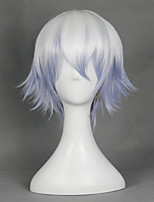Gintama Sexual Transfer Sakata Gintoki Mixed White and Purple Upturned Halloween Wigs Synthetic Wigs Costume Wigs