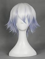 Gintama половая передача Саката Гинтоки смешанный белый и фиолетовый перевернутый Хэллоуин парики синтетические парики Карнавальные парики