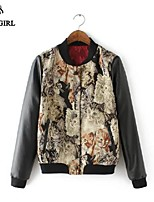 LIVAGIRL®Women's Jacket Fashion Stand Collar Jacquard Weave Jacket Europe Style Winter Casual All-Match Top Coat