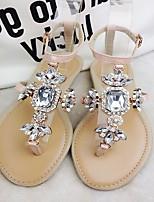 Women's Shoes Flat Heel Round Toe Sandals Casual Black/Pink/Beige