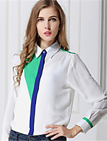 Chemise Aux femmes Manches Longues Polyester