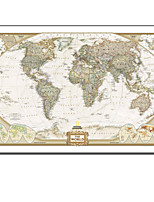 VISUAL STAR®Modern World Map Modern Wall Painting Design On Canvas Ready to Hang